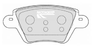 BRAKE PADS REAR RENAULT KANGOO 1998 1999 2000 2001 2002 2003 2004 2005 2006 2007 2008 2009 BOSCH TYPE (1247)